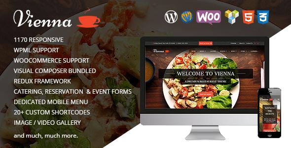 WIEN - Responsives WordPress Restaurant Template