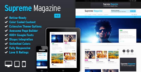 Supreme - Retina Responsive Magazin / Blog WP Vorlage
