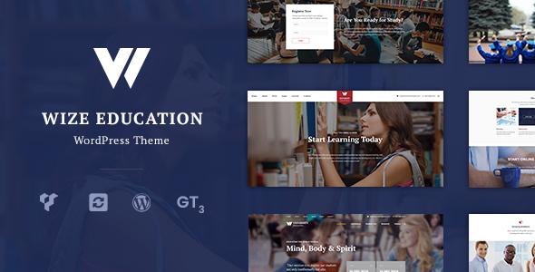 Bildung | Kurse & Veranstaltungen LMS WordPress Layout - WizeEdu