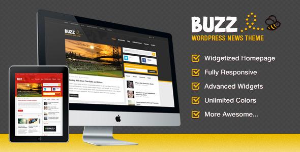 Buzz, ein lustiges News-Vorlage für WordPress