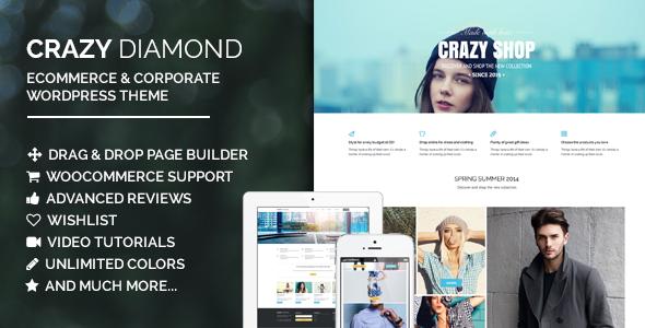 Verrückter Diamant - E-Commerce & Corporate Layout