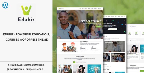 Edubiz - Leistungsstarke Bildung, Kurse WordPress Layout