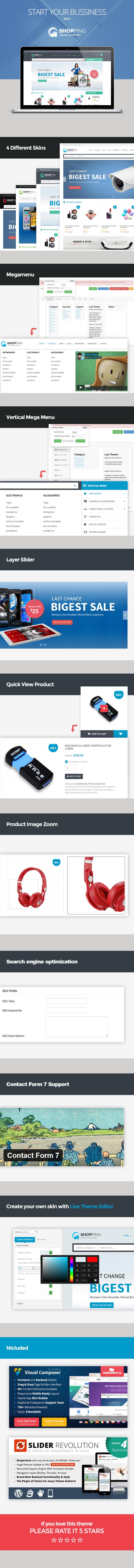 WooCommerce Responsives WordPress Vorlage einkaufen
