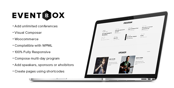 Eventbox - Club / Workshop / Party WordPress Layout