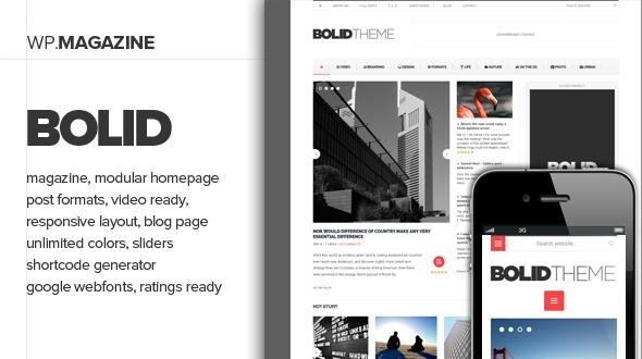Bolid - Responsive Nachrichten, Magazine und Blog Vorlage