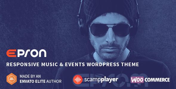Epron - Responsive Musik & Veranstaltungen WordPress Vorlage