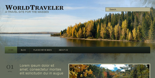 WP Weltreisender - Reise Wordpress Template