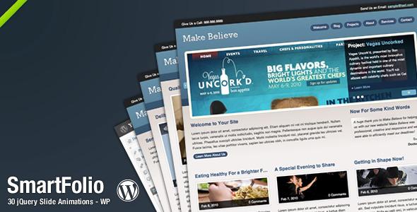 SmartFolio WordPress Vorlage