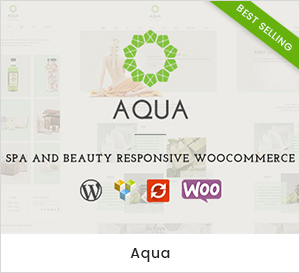 Aqua - Spa und Beauty Responsive WooCommerce WordPress Layout