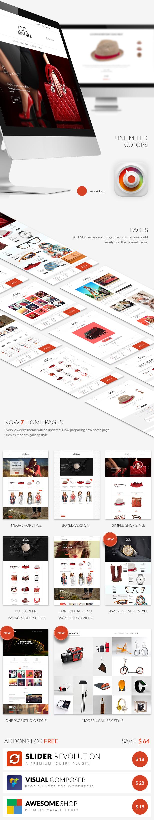 SWAGGER - Einzigartiges Mehrzweck-WordPress-Template