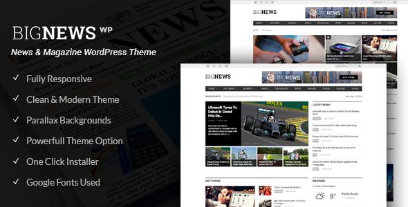 Big News - Zeitung WordPress Theme (Nachrichten, Magazin, Blog)