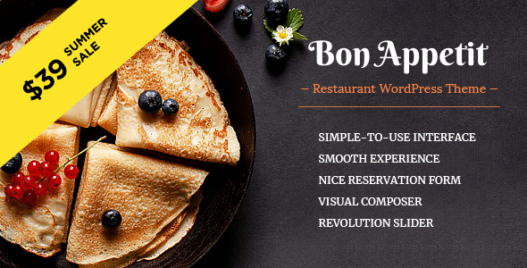 Bon Appetit - Restaurant WordPress Vorlage