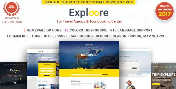 Tour Buchung Reise WordPress Theme |  EXPLOORE Reisen