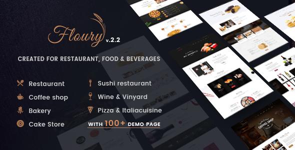 Restaurant WordPress Theme | Restaurant WP Floury (Restaurant, Café, Pizza)