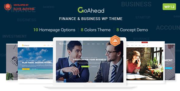 Finanzen WordPress Theme | Finance WP GoAhead (Finanzen, Rechnungswesen, Beratung, Startup)