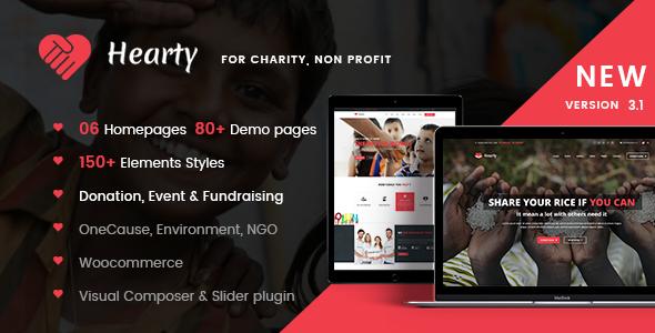 Wohltätigkeits WordPress Theme | Wohltätigkeit WP herzhaft