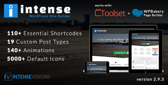 Intensiv - Shortcodes und Site Builder für WordPress