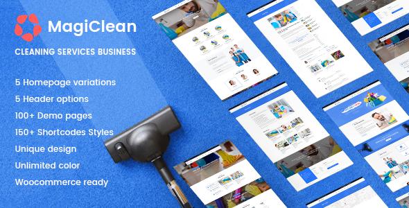 MagiClean | Reinigungsunternehmen WordPress Theme