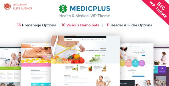 Medizin & Gesundheit WordPress Theme | Medizin & Gesundheit WP Medic Plus (Medizin, Gesundheit, Klinik, Arzt)