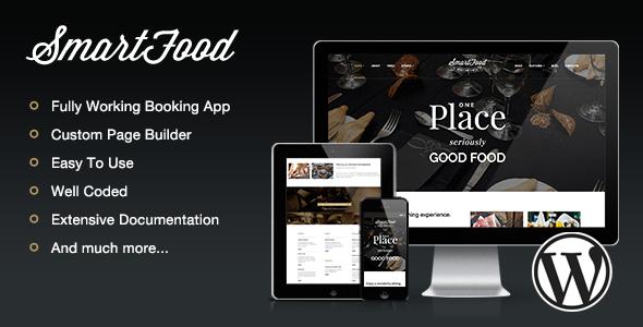 SmartFood - Restaurant, Café, Bistro WordPress Vorlage