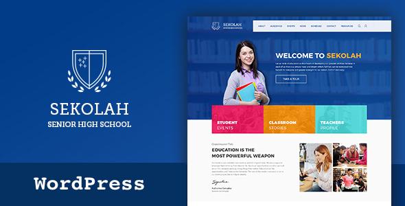 Senior High School & akademischen Kalender WordPress Vorlage