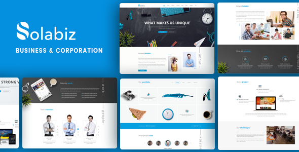 Solabiz - Business & Corporate Responsive WordPress Theme (Beratung, Agentur, Firma)