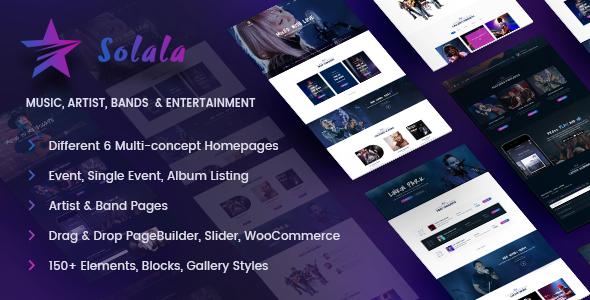 Musik WordPress Theme |  Musik WP Solala (Musik, Band, Künstler, Konzert, Audio, Fanclub)