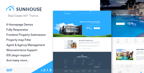 Sun House - Immobilien WP | Responsive Real Estate WordPress Theme