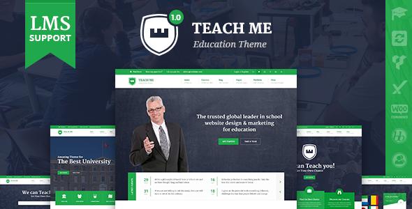 TeachMe - WordPress Vorlage für Schulen