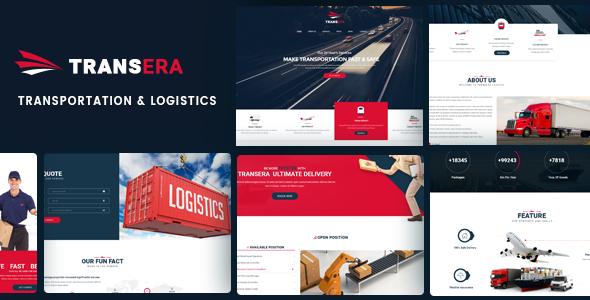 Logistik WordPress Theme |  Logistik WP Transera (Logistik, Transport, Fracht)