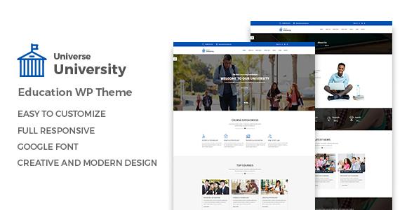 Universum - Bildung WordPress Vorlage - Agentur zweigelb