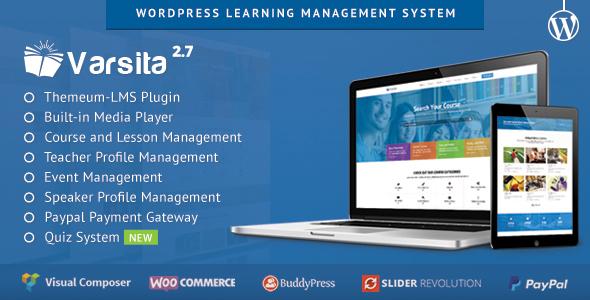 Varsita - Education Vorlage, ein Learning Management System für WordPress