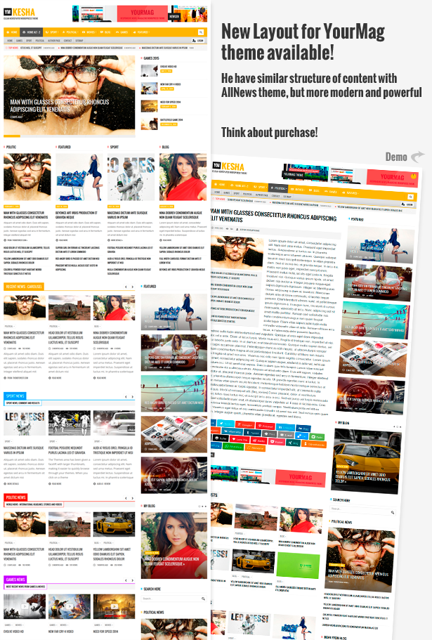 YourMag - Universal News / Magazin WordPress Thema