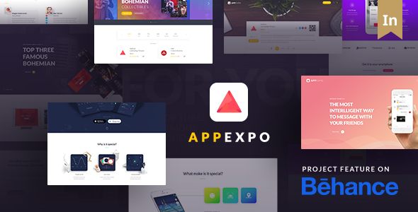 WordPress-Theme für App-Zielseite (App Showcase, App Store) - App Expo