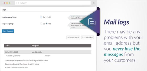 Ziehen Sie Kontaktformular-E-Mail-Protokolle aus