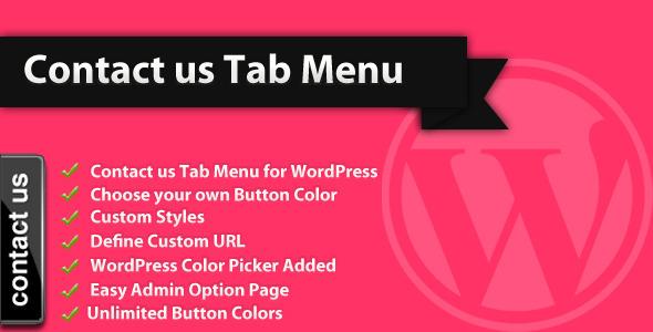 Kontaktieren Sie uns Tab Menu - WordPress Plugin