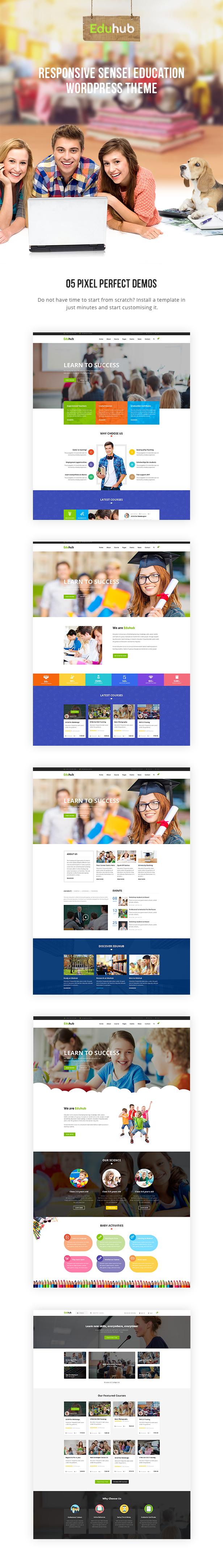 Eduhub - Responsive Sensei Bildung WordPress Layout