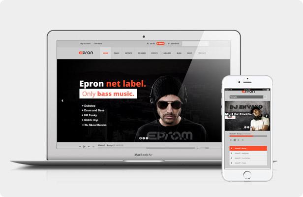 Epron WordPress Vorlage - Live Vorschau