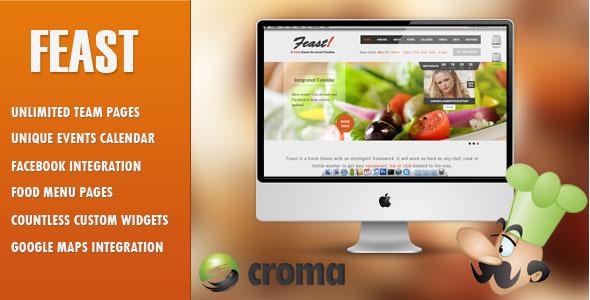 Feast - Facebook Fanpage & WordPress Layout