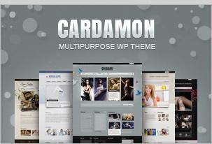 Cardamon WP - Mehrteiliges WordPress Vorlage