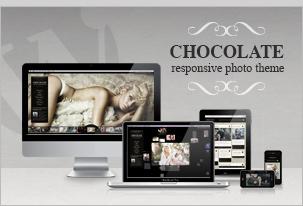 Schokolade WP - Creative / Fotografie WordPress Vorlage