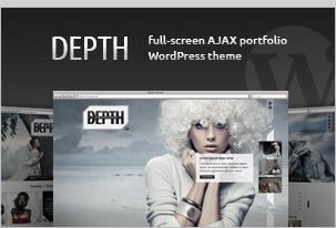 Tiefe - Vollbild AJAX Portfolio WordPress Vorlage