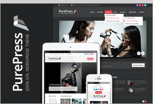 PurePress - Responsive & Retina-Ready-Portfolio WordPress Vorlage