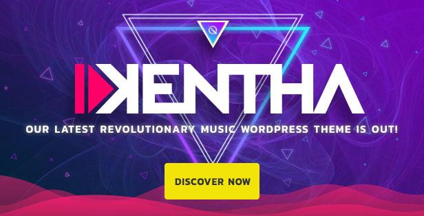 Kentha Musik WordPress Vorlage