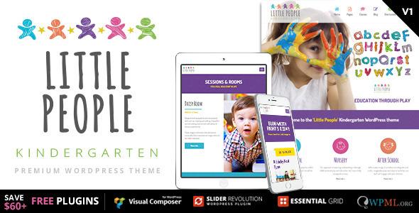 Kleine Leute | Kindergarten WordPress Template für PreScool und Kleinkinder, Kindergärten und Spielschule