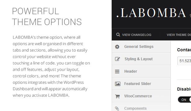 Labomba - Responsive Mehrzweck WordPress Vorlage