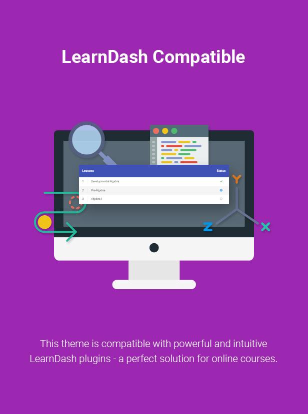 Lernfähigkeit für WordPress-Vorlage