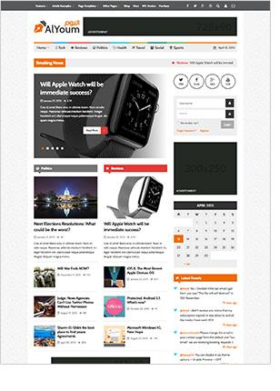 AlJoym | Retina Magazin und Blog WordPress Template