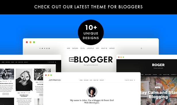 theblogger wordpress Template