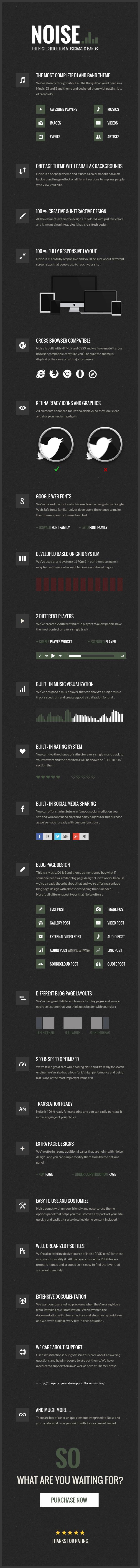 Lärm - WordPress-Musikthema